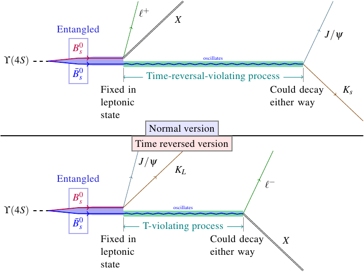 Time reversal symmetry violation in B meson oscillations