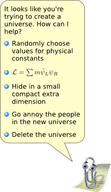 Clippy helps you create a universe