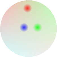 three quarks in a proton