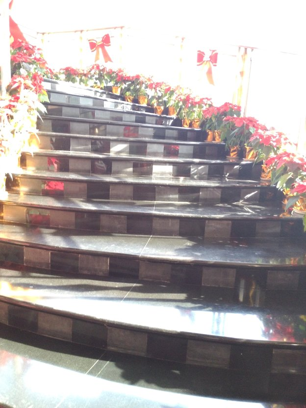 ornamented stairs at Best Western