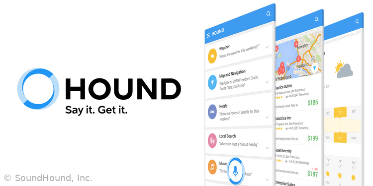 I'll be working on the Hound voice assistant. Image copyright SoundHound, Inc., all rights reserved